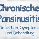 Chronische Pansinusitis