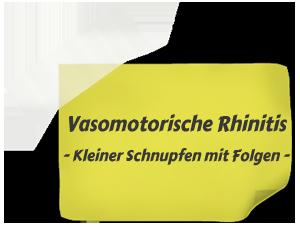 Vasomotorische Rhinitis