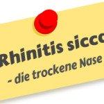 Rhinitis sicca – die trockene Nase
